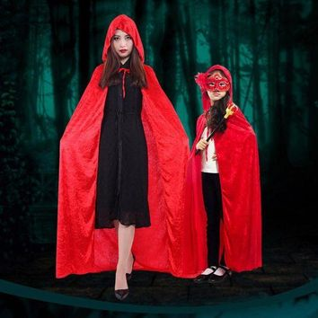 DCCKH6B Halloween Personality Little Red Riding Hood Costume Party Adult Children Small Red Cap Cosplay Clothing Halloween For Women