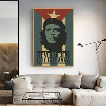 Famous Revolution Man Che Guevara World History Canvas Painting Wall Poster Art Picture Vintage Home Decor Cuadros Decoration