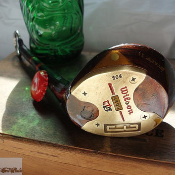 Antique Golf Club Bottle Opener-- Professional Model Wilson 3 Wood --OOAK