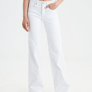 AE Wide Leg Jean, White