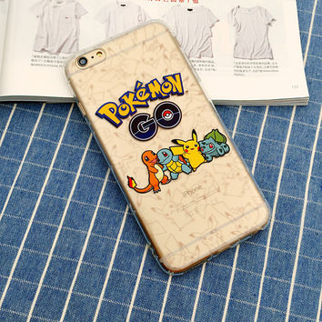 Pokemon Go Protective Phone Case For iPhone 7 7Plus 6 6s Plus 5 5s SE