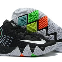 Nike Kyrie Irving 4 Black/White Sport Shoes US7-12