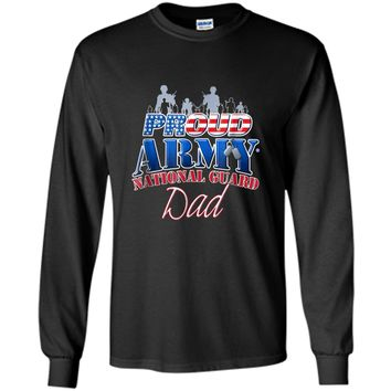 Proud Army National Guard Dad US Dog Tag Shirt Fathers Day