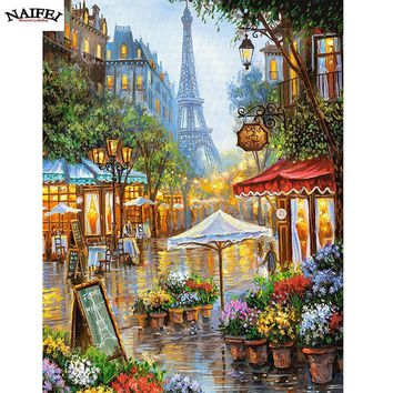 5D Diamond Painting Flower Shop in Paris Kit