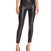 Olivaceous Faux-Leather Leggings | Bloomingdales's