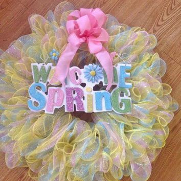 SALE20%OFF Welcome Spring Deco Wreath
