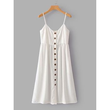 Button Through Cami Dress