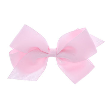 Kids Large Pink Bow Clip