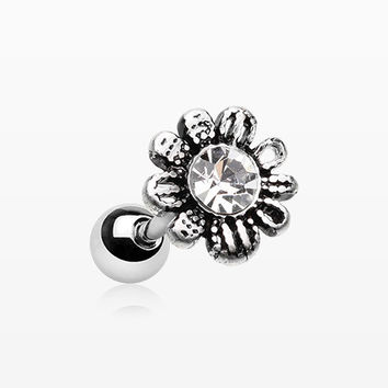 Adorable Daisy Sparkle Cartilage Tragus Barbell