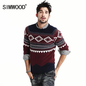 Autumn Winter 2016 New Arrival Brand Men Wool Sweater O-neck Thick Jacquard Kintwear Pullover Mens Sweaters Plus Size MY343