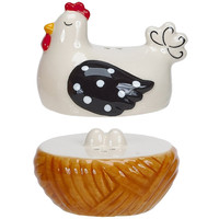 Hen House Ceramic Salt & Pepper Set