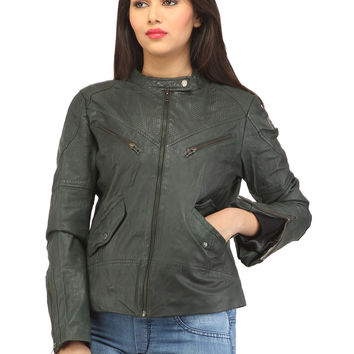Women Casual Jacket With Perforation