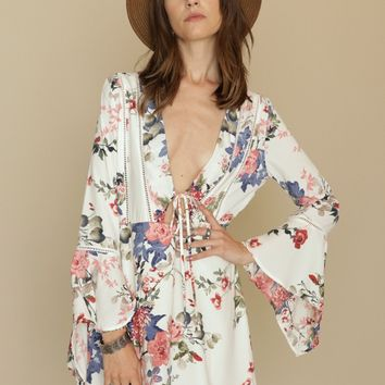 Baroque Floral Dress