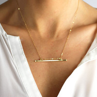 Harmony Bar Necklace - Christine Elizabeth Jewelry