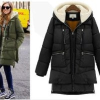 Winter Elegant Womens Down Long Parka Thick Outwear Jacket Coat