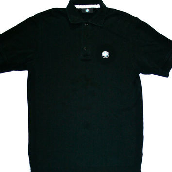Vintage Authentic BMW Black Polo Shirt Mens Size Small
