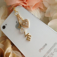 Valentine'sDay Love Sign Phone Plug and Charm by ComfyZone on Etsy