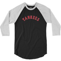 boston yankees 3/4 Sleeve Shirt