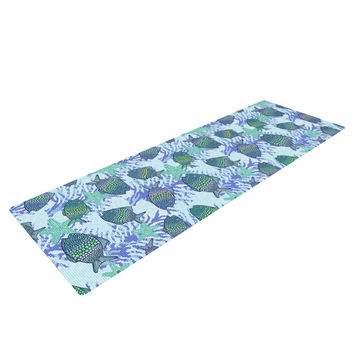 "Julia Grifol ""My Colorful Fishes"" Blue Teal Yoga Mat"