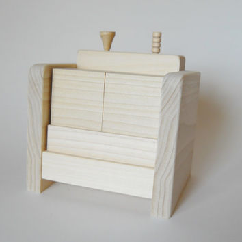 Perpetual Desk Calendar, Wooden Block with moveable peg or golf tee, Unfinished