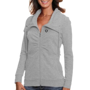 Cutter & Buck Oakland Raiders Ladies Squeeze Play Full Zip Jacket - Ash
