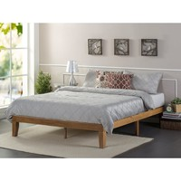 Priage Solid Wood Platform Bed, Rustic Pine | Overstock.com Shopping - The Best Deals on Beds