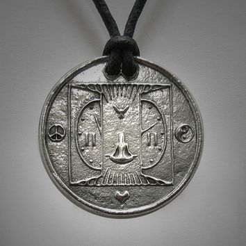 11:11 1111 Art Necklace Interfaith Multifaith Awakening Make a Wish Spiritual Numerology Ascention Jewelry Adjustable Necklace Necklace