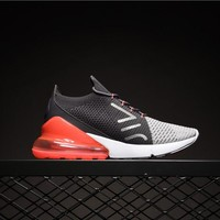 Nike Air Max Flyknit Grey Red AO1023-202 Sport Running Shoes - Best Online Sale
