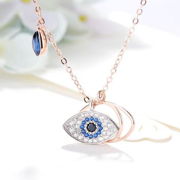 New Arrival Shiny Gift Jewelry Silver Crystal Stylish Accessory Devil Necklace [11203384583]