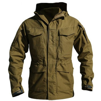 Clothes Tactical jacket Windbreaker Men bomber jacket Thermal Flight Pilot Coat Male Hoodie Field Jacket Coat