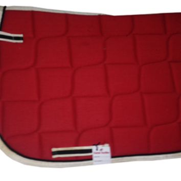 Red English saddle pad