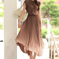 Bohemia Pleated Maxi Dress = 1932633796