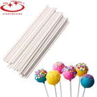 50Pcs/Pack 15cm Long Pop Plastic Lollipop Stick for Lollipop Chocolate Sugar Cudgel Pole Handle Rod Paste Tool