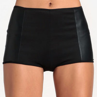 Lady Leatherette Hot Pants - $28.00 : ThreadSence, Women's Indie & Bohemian Clothing, Dresses, & Accessories