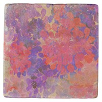 floral composition stone coaster