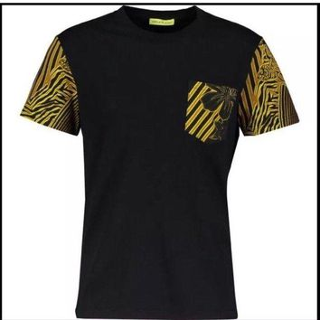 VOND4H Versace Jeans Tiger Print Mens Top T Shirt New Authentic Top BNWT NEW GENUINE