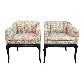 Pre-owned Directional Furniture Co. Side Chairs - A Pair