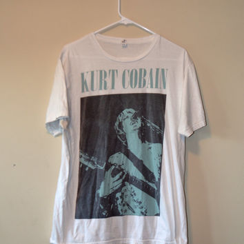 RARE Kurt Cobain - Legendary Lead Singer of Nirvana Vintage T-Shirt