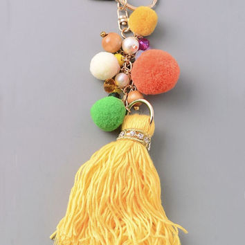 Colorful Tassel Key Fob 190349KC