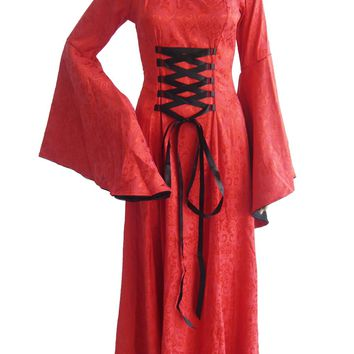Atomic Red Victorian Dress Ball