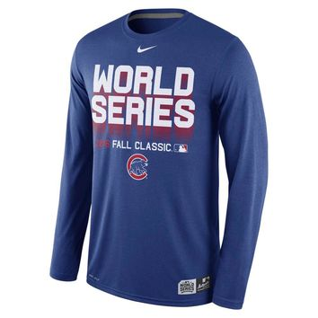 5c39f2680130 Chicago Cubs 2016 World Series Long Sleeve Dri-Fit Shirt by Nike