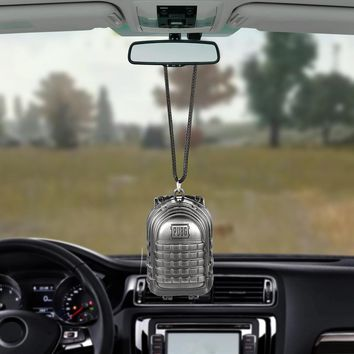 Car Pendant Backpack For PUBG Playerunknowns Battlegrounds Level 3 Automobiles Rearview Mirror Suspension Ornaments Accessories