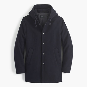 J.Crew Mens Hooded Coach's Jacket In Wool