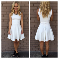 White Erin Skater Dress
