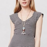 Neo-Gingham Crossback Tee by Deletta