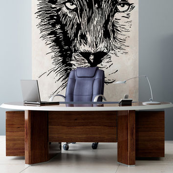 Vinyl Wall Decal Sticker Lion's Face #OS_AA541
