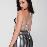 Striped Shiny Late Night Mini Skirt | Mini | Women's Skirts | American Apparel