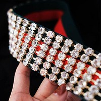 GUCCI Popular Women Men Crystal Diamond Full Headband I