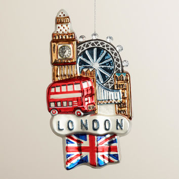 Glass London View Ornament - World Market