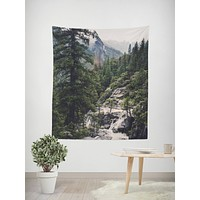 Great Foggy Wilderness Wall Tapestry - 4 Sizes